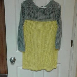 Sweater size M by apt.9 yellow and gray